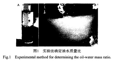 实验法确定油水质量比
