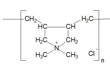 聚二甲基二烯丙基氯化铵 结构式