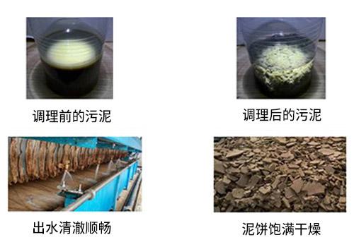 污泥深度脱水调理剂使用效果